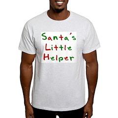 Santa's Little Helper Ash Grey T-Shirt