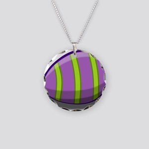 Easter Egg Necklace Circle Charm