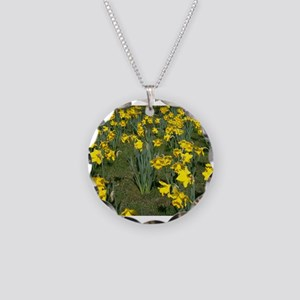 Easter Narcissus Necklace Circle Charm