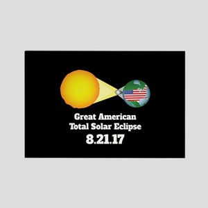 Solar Eclipse Rectangle Magnet
