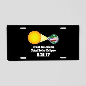 Solar Eclipse Aluminum License Plate