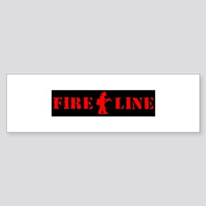 Girl FFT on the Line (RED) Bumper Sticker