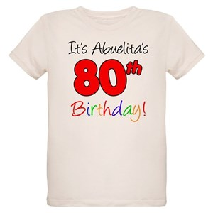 80th Bday Organic Kids T Shirts