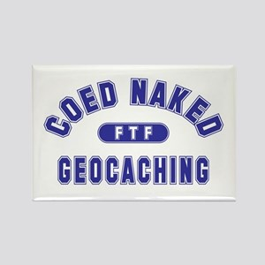 """""""Coed Naked Geocaching"""" Rectangle Magnet"""