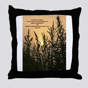 Sunrise Sand Throw Pillow