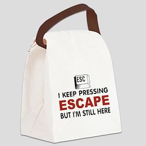 Escape Key Canvas Lunch Bag