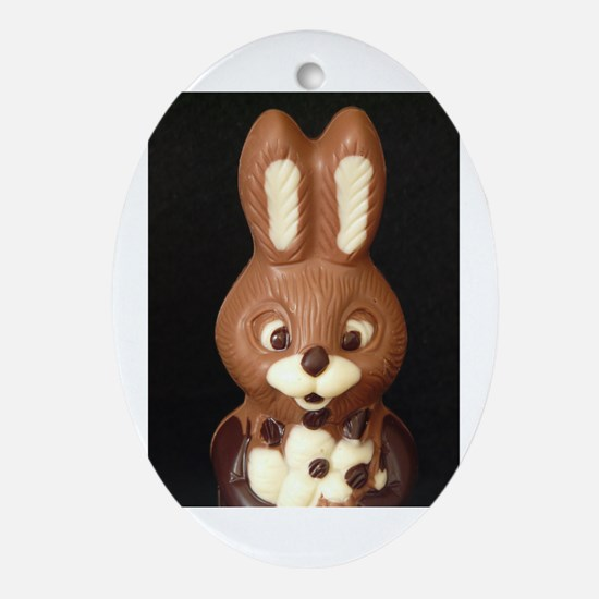 Chocolat Easter Bunny Ornament (Oval)