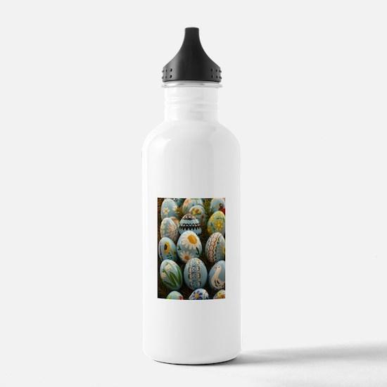 Easter Eggs Water Bottle