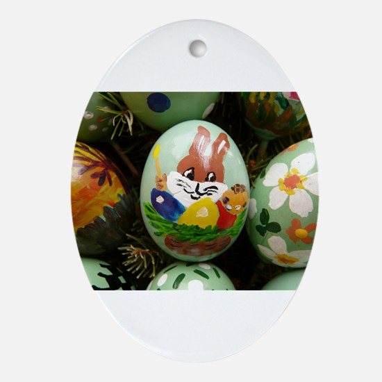 Easter Eggs Ornament (Oval)