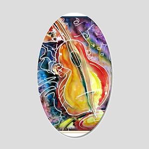 Bass player, fun music art Wall Decal