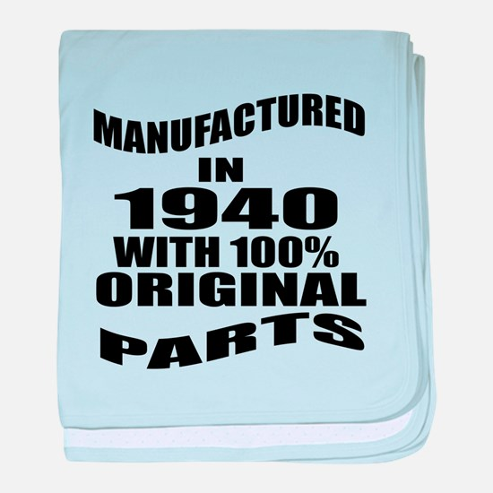 Manufactured in 1940 baby blanket