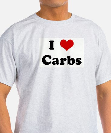 I Love Carbs Ash Grey T-Shirt