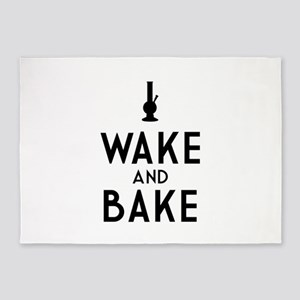 Wake and Bake Bong Dark 5'x7'Area Rug