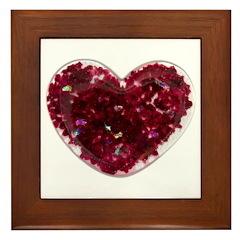 Big red heart Framed Tile