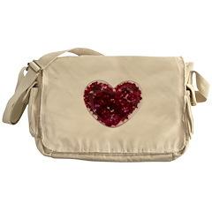 Big red heart Messenger Bag