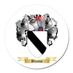 Blanton Round Car Magnet