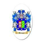 Blanque 20x12 Oval Wall Decal