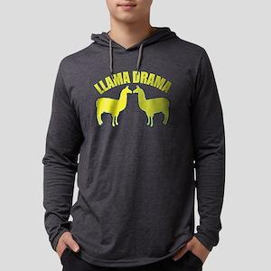 Llama Drama Mens Hooded Shirt