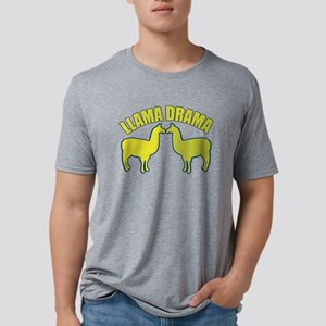 Llama Drama Mens Tri-blend T-Shirt