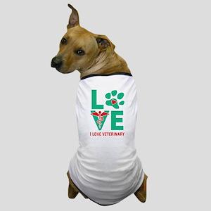I Love Veterinary Dog T-Shirt