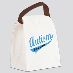 Team Autism Awareness Canvas Lunch Bag