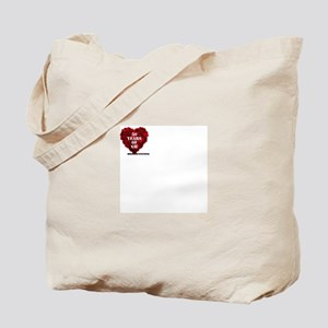General Hospital 50th Anniversary Heart Tote Bag