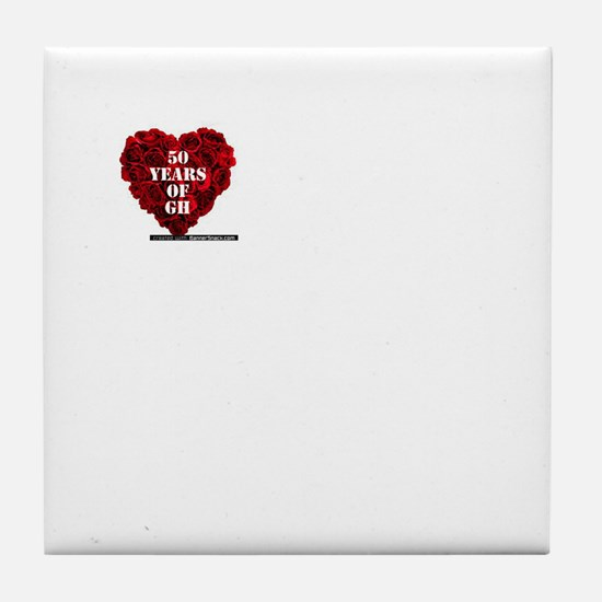 General Hospital 50th Anniversary Heart Tile Coast