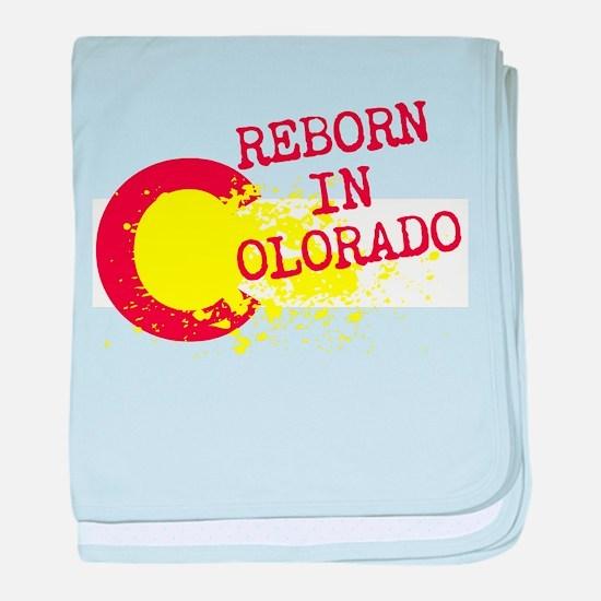 REBORN IN COLORADO baby blanket