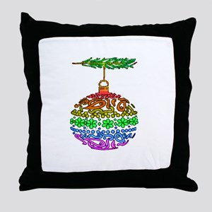 1 PRIDE ORNAMENT TEXTURED ON  Throw Pillow