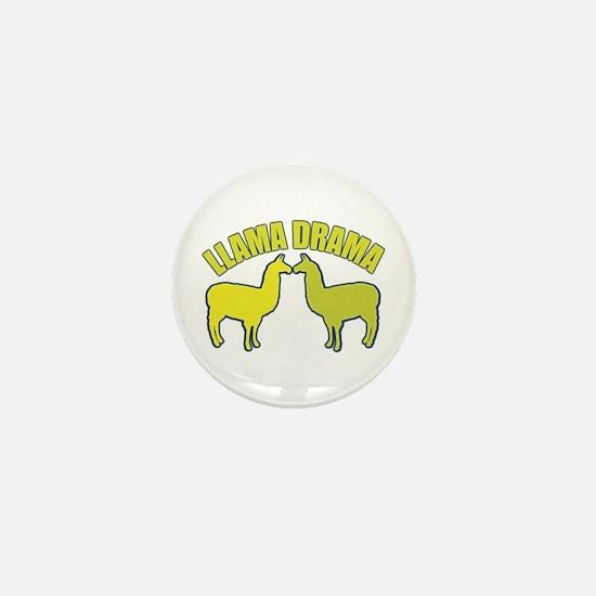 Llama Drama Mini Button