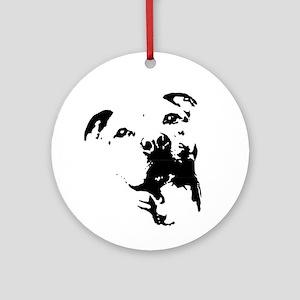 Pitbull Dog Ornament (Round)