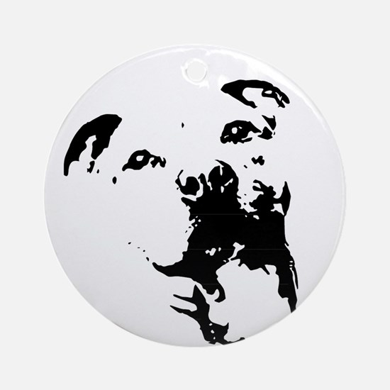 Pitbull Dog Ornament (Round)