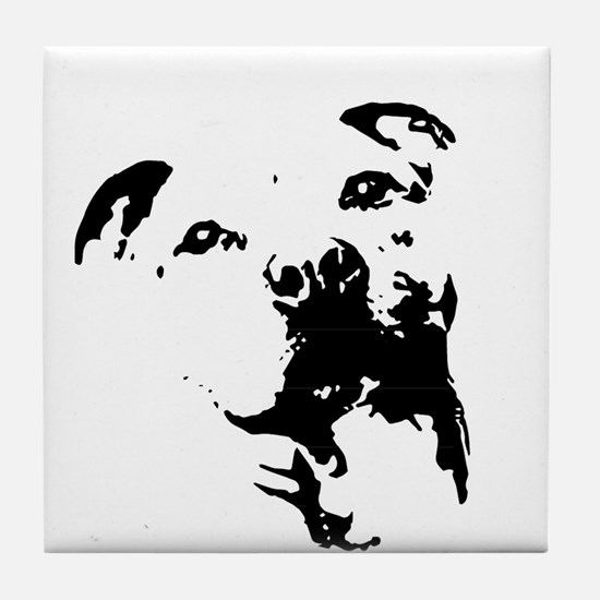 Pitbull Dog Tile Coaster