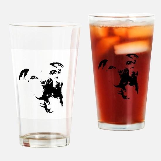 Pitbull Dog Drinking Glass