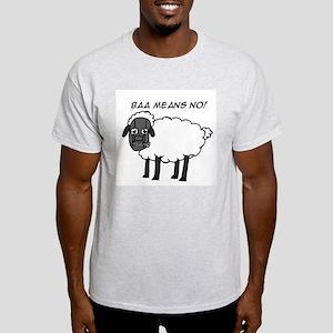 Baa Means No Ash Grey T-Shirt