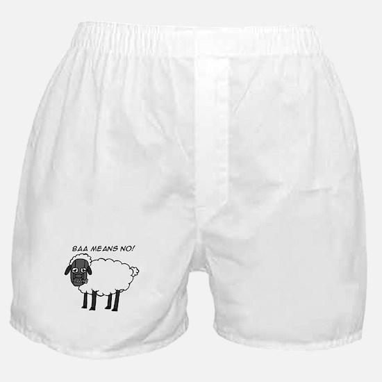 Baa Means No Boxer Shorts