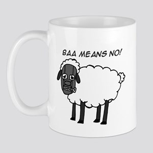 Baa Means No Mug