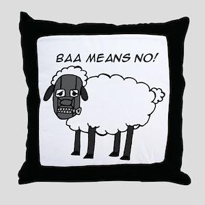 Baa Means No Throw Pillow