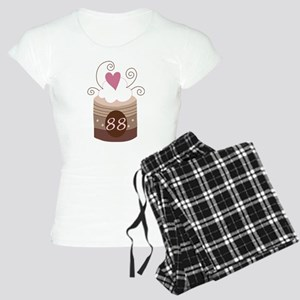 88th Birthday Cupcake Women's Light Pajamas