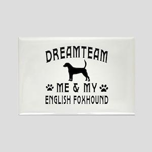 English Foxhound Dog Designs Rectangle Magnet