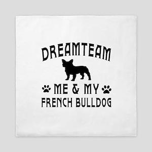 French Bulldog Dog Designs Queen Duvet