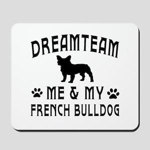 French Bulldog Dog Designs Mousepad