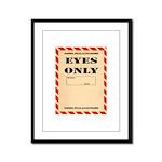 Eyes Only Framed Panel Print