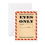Eyes Only Greeting Cards (Pk of 10)