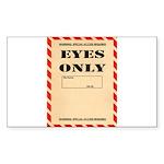 Eyes Only Sticker