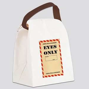 Eyes Only Canvas Lunch Bag