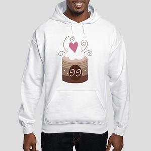 99th Birthday Cupcake Hooded Sweatshirt
