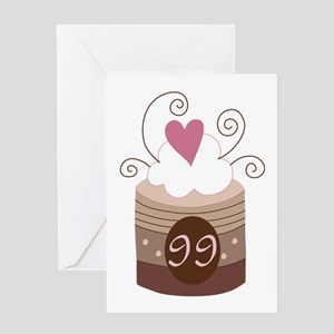 99th Birthday Cupcake Greeting Card