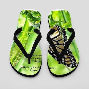 Thinking Butterfly Flip Flops