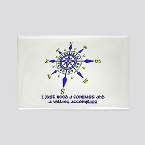 compass and willing accomplice-1-1 Rectangle Magne